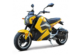 Yellow Boom scooter rental